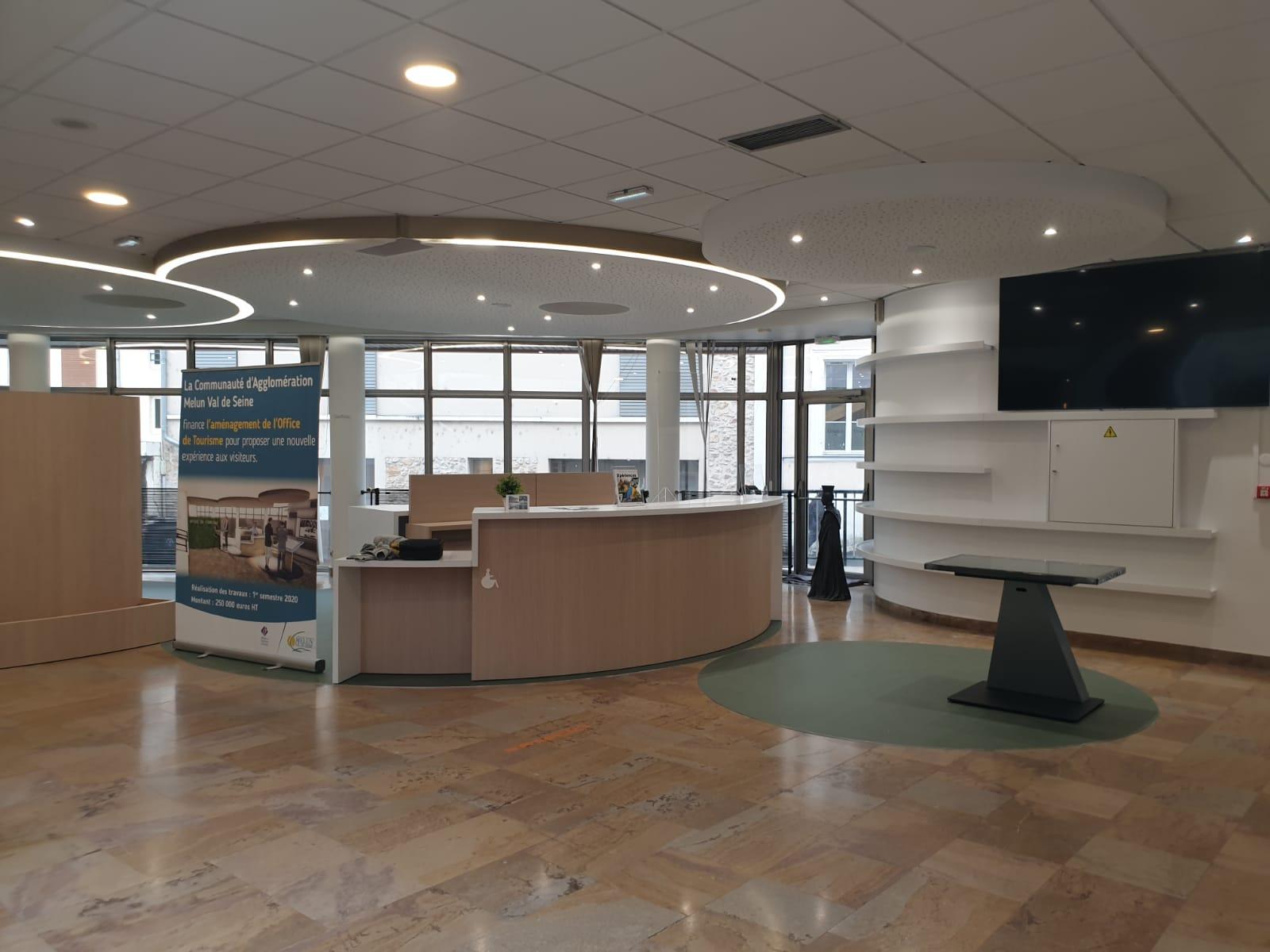 Nouvel accueil de l'Office du Tourisme au sein de l'Espace Saint-Jean à Melun