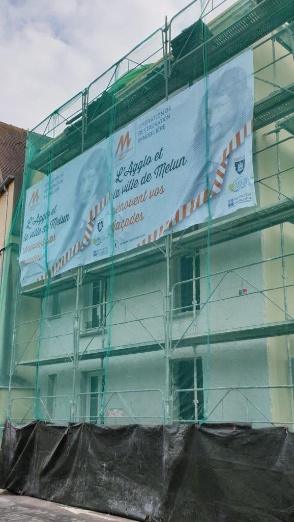 Travaux de rénovation de bâtiment engagés dans le cadre de l'Opération de Restauration Immobilière à Melun
