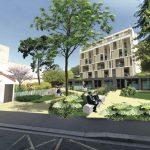 Proposition de l'étude urbaine : un nouveau square pour la ville et un jardin collectif à s'approprier